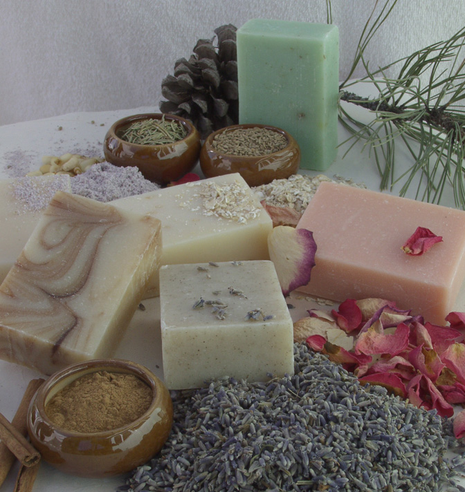 Organic ingredients for EarthGift Herbals Spa Soap, great for sensitive skin